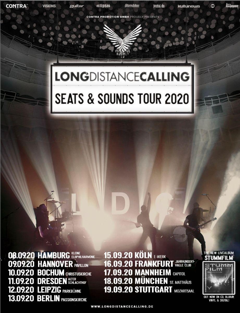"""LONG DISTANCE CALLING gehen auf """"SEATS & SOUNDS TOUR 2020"""""""