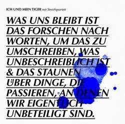 """Cover der CD """"Was uns bleibt""""; der Band """"Ich und mein Tiger"""""""