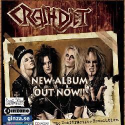 """Cover der CD """"Unattractive Revolution""""; der Band """"CRASHDIET"""""""
