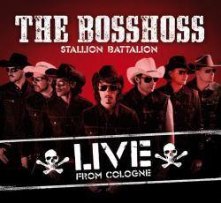 "Cover der CD "" Stallion Battalion Live""; der Band ""The Bosshoss"""