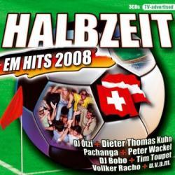 """Cover der CD """"Halbzeit EM Hits 2008""""; der Band """"V/A"""""""