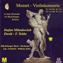 """Cover der CD """"Violinkonzerte""""; der Band """"David-F. Tebbe"""""""