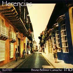 "Cover der CD ""Herencias""; der Band ""Bruno Böhmer Camacho"""