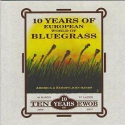 "Cover der CD ""10 Years of European World of Bluegrass""; der Band ""Various Artists"""