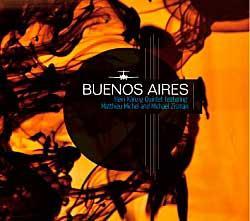 "Cover der CD ""Bueonos Aires""; der Band ""Heiri Känzig Quintett feat. Michel and Michael Zis"""