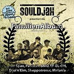 "Cover der CD ""Familienalbum (Mixtape No. 2)""; der Band ""SOULDJAH"""