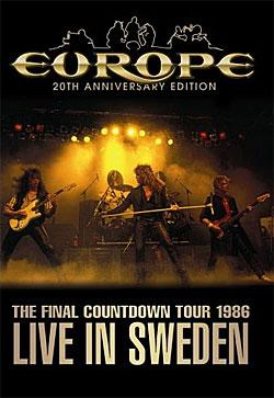 "Cover der CD "" DVD - The Final Countdown Tour 1986""; der Band ""Europe"""