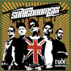 "Cover der CD ""rude awakening""; der Band ""sonicboomsix"""