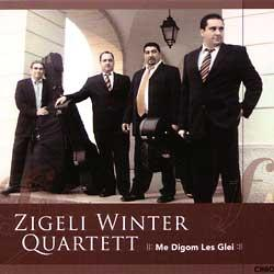 "Cover der CD ""Me Digom les Glei""; der Band ""Zigeli Winter Quartett"""