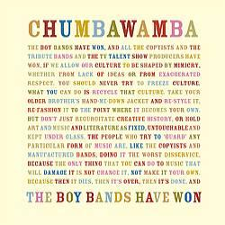 "Cover der CD ""The Boy Bands have won""; der Band ""Chumbawamba"""