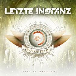 """Cover der CD """"Die Weisse Reise-Live in Dresden""""; der Band """"Letzte Instanz"""""""