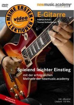 "Cover der CD ""Meine ersten Lektionen - E-Gitarre""; der Band ""Thomas Rothenberger"""
