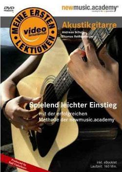 """Cover der CD """"Meine ersten Lektionen - Akustikgitarre""""; der Band """"Andreas Schulz"""""""