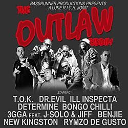 "Cover der CD ""The Outlaw Riddim""; der Band ""The Outlaw Riddim"""