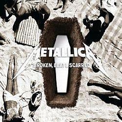 "Cover der CD ""Broken, Beat & Scarred""; der Band ""Metallica"""