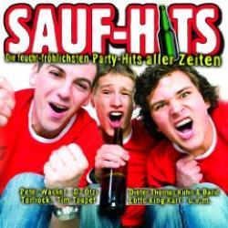 "Cover der CD ""Saufhits - Die feucht-fröhlisten Party-Hits aller""; der Band ""Various"""