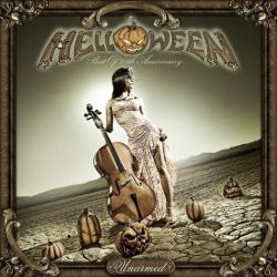 "Cover der CD ""Unarmed: Best of 25th Anniversairy""; der Band ""Helloween"""