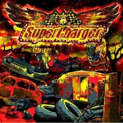 "Cover der CD ""Handgrenade Blues""; der Band ""Supercharger"""
